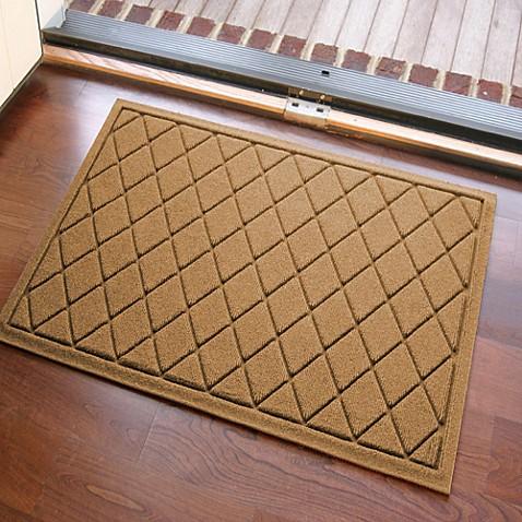 Weather Guard 23 Inch X 35 Inch Argyle Door Mat Bed