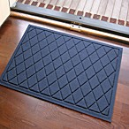 Weather Guard™ 23-Inch x 35-Inch Argyle Door Mat in Navy