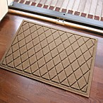 Weather Guard™ 23-Inch x 35-Inch Argyle Door Mat in Medium Brown