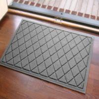 Weather Guard™ 23-Inch x 35-Inch Argyle Door Mat in Medium Grey