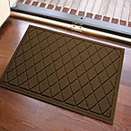 Weather Guard™ 23-Inch x 35-Inch Argyle Door Mat in Dark Brown