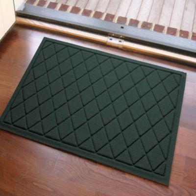 Weather Guard™ 23 Inch X 35 Inch Argyle Door Mat In Evergreen