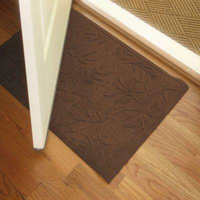 Charming Microfibre® Low Profile Wisteria 2 Foot X 3 Foot Door Mat In Chocolate