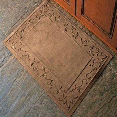 Microfibre® Low Profile Vine 2 Foot X 3 Foot Door Mat In Chocolate