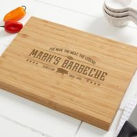 The Man, The Meat, The Legend 14-Inch x 18-Inch Personalized Bamboo Cutting Board