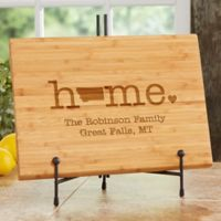 Home State Personalized Bamboo Cutting Board
