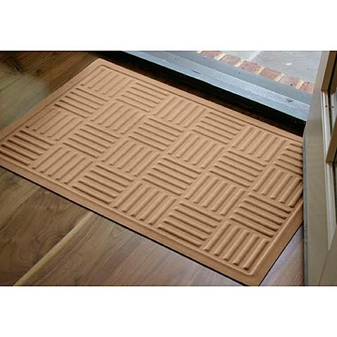 buy microfibre low profile parquet 2 foot x 3 foot door mat in latte from bed bath beyond. Black Bedroom Furniture Sets. Home Design Ideas