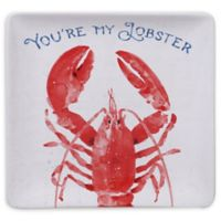 Certified International Nautical Life Lobster 12.5-Inch Square Platter