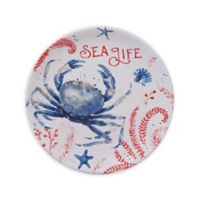 Certified International Nautical Life Crab Dessert Plates (Set of 4)