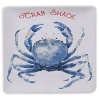 Certified International Nautical Life Crab 12.5-Inch Square Platter