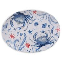 Certified International Nautical Life Crab 16-Inch Oval Platter