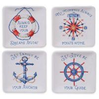 Certified International Nautical Life Appetizer Plates (Set of 4)