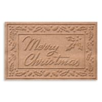 Weather Guard™ 23-Inch x 35-Inch Merry Christmas Door Mat in Medium Brown
