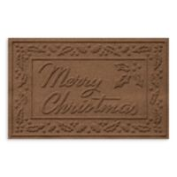 Weather Guard™ 23-Inch x 35-Inch Merry Christmas Door Mat in Dark Brown