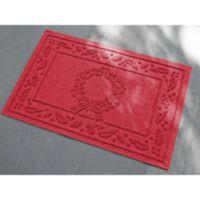 Weather Guard™ 23-Inch x 35-Inch Wreath Door Mat in Red