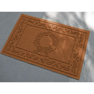 Weather Guard™ 23 Inch X 35 Inch Wreath Door Mat In Dark Brown