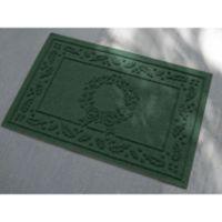 Weather Guard™ 23-Inch x 35-Inch Wreath Door Mat in Evergreen