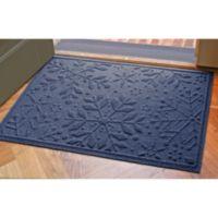 Weather Guard™ 23-Inch x 35-Inch Snowflake Door Mat in Navy
