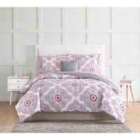 Shirley Full Comforter Set in Pink