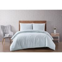 Brooklyn Loom® Chicago Diamond 3-Piece King Duvet Set in Mint Green