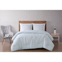 Brooklyn Loom® Chicago Diamond 3-Piece King Comforter Set in Mint Green