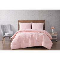 Brooklyn Loom® Chicago Diamond 2-Piece Twin XL Comforter Set in Blush/Pink