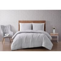 Brooklyn Loom® Chicago Diamond 2-Piece Twin XL Comforter Set in Gray/Violet