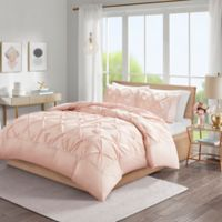 Madison Park Laurel Tufted California King Duvet Cover Set in Blush