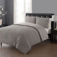 VCNY Home Lattice Full Comforter Set in Grey