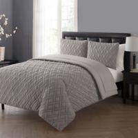 VCNY Home Lattice Queen Comforter Set in Grey