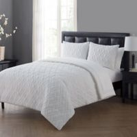 VCNY Home Lattice Twin Comforter Set in White