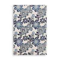 Trans-Ocean Floral 7-Foot 6-Inch x 9-Foot 6-Inch Indoor/Outdoor Rug in Blue