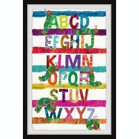 Marmont Hill Caterpillar Alphabet 24-Inch x 36-Inch Framed Wall Art