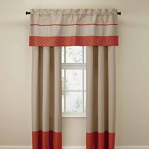 royal heritage home® pelham window valance in orange - bed bath