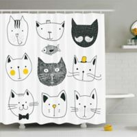 Ambesonne Cat 69-Inch x 75-Inch Shower Curtain