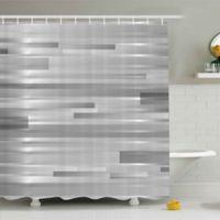 Ambesonne Modern 69-Inch x 70-Inch Shower Curtain in Silver/Grey