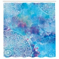 Ambesonne Mosaic 69-Inch x 84-Inch Shower Curtain in Blue/Purple