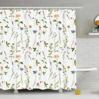 Colorful Florals 69-Inch x 70-Inch Shower Curtain