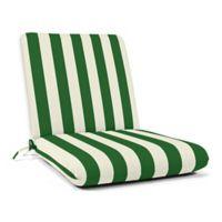 Casual Cushion Stripe Hinged Club Chair Cushion in Sunbrella® Maxim Forest Green