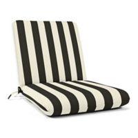 Casual Cushion Stripe Hinged Club Chair Cushion in Sunbrella® Maxim Classic