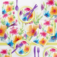 Creative Converting 73-Piece Watercolor Floral Party Supplies Kit