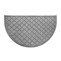 Weather Guard™ Cordova 24-Inch x 39-Inch Half Oval Door Mat in Medium Grey