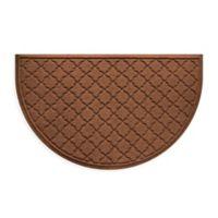 Weather Guard™ Cordova 24-Inch x 39-Inch Half Oval Door Mat in Dark Brown