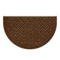"""Weather Guard™ Aqua Shield Lattice 24"""" x 39"""" Door Mat in Dark Brown"""