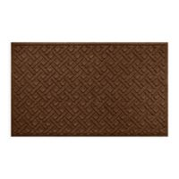 "Weather Guard™ Lattice 36"" x 59"" Door Mat in Dark Brown"