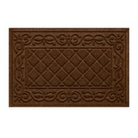 "Weather Guard™ Tristan 24"" x 36"" Door Mat in Dark Brown"