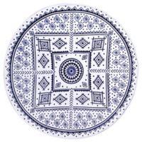 Sand Cloud Medallion Round Throw Blanket in Navy/White
