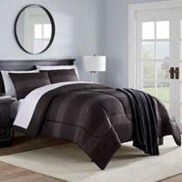 Ashton Twin Comforter Set in Grey/Black