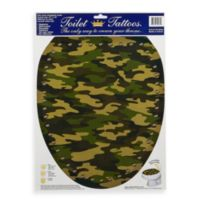 Toilet Tattoos® Army Camo in Elongated