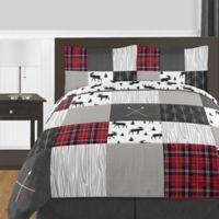 Sweet Jojo Designs® Rustic Patch Full/Queen Bedding Set in Red/Black